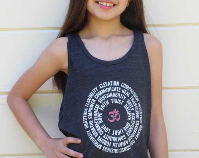 Inspirational OM Mandala Kids Tee or Tank