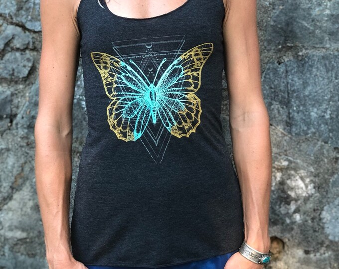 Transformation Racerback Tank / Ladies Tee/ Muscle Tee