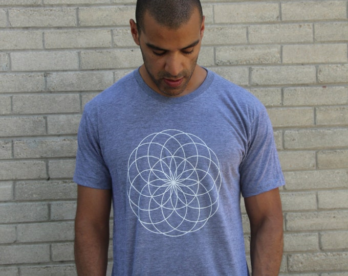 SEED OF LIFE Crew Neck Tee - Men / Unisex