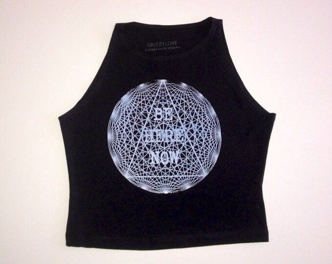 Be Here Now Mandala Fitted Crop Tank