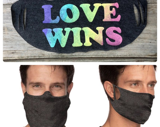 LOVE WINS Face Cover