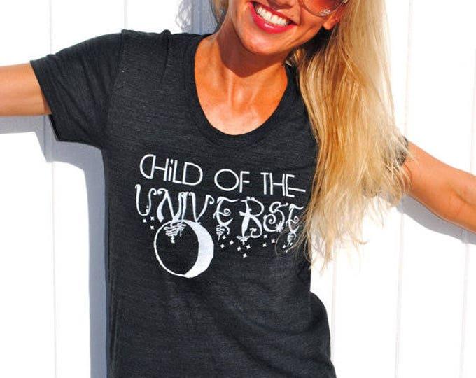 CHILD of the UNIVERSE Racerback Tank/ Ladies Tee/ Muscle Tee