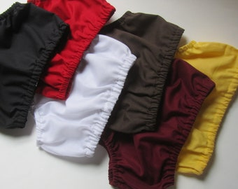 Baby Boy Diaper Cover: Your Choice of Color - Yellow, Brown, Black, Maroon, Green, Blue, Red, White, Purple, Orange
