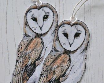 Barn Owl Gift Tags, Woodland Tags, Owl Swing Tags, Woodland Gift Wrap