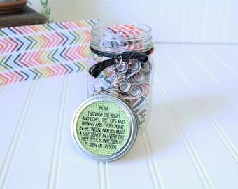Nurse Gift - Encouragement Gift - Journey Jar - Motivation for Nurses - Daily Quote Jar - Christian Gift - Thank You Gift for Nurses