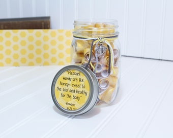 Encouragement Jar Gift - Journey Jar - Inspirational Gift - Daily Quotes - Monthly Scripture Jar - Bible Verse a Day Collection - Joy Jar