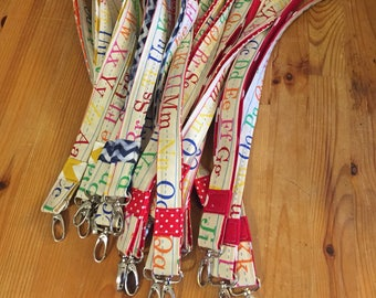 Teacher lanyard, alphabet lanyard, ABC lanyard