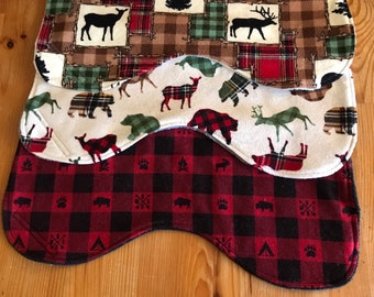 Burp cloth set, baby burp cloths, baby boy gift, woodland animals
