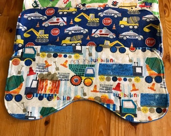 Baby burp cloth set, baby boy burp cloths, transportation burp cloths, baby boy gift
