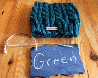 For Amber, turquoise ponytail hat, unlined