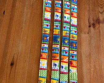 Teacher lanyards, school lanyards, green chevron
