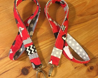 Dachshund lanyard, teacher lanyard, red lanyard, dog lover, veterinarian