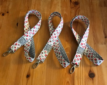 Teacher lanyard, floral lanyard, polka dot lanyard, back to school