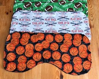 Baby burp cloths, basketball burp cloth, baseball burp cloth, football burp cloth