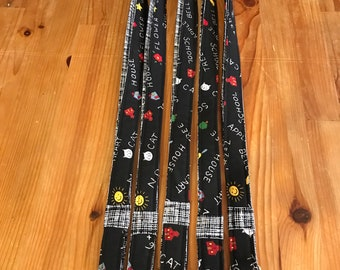 Teacher lanyards, chalkboard lanyards, teacher gift