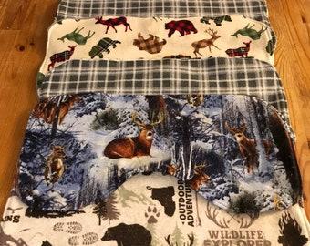 Baby boy gift, burp cloth set, woodland nursery, baby shower gift