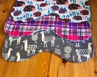 Baby burp cloth set, baby girl burp cloths