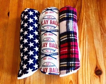 Burp cloth set, Baseball burp cloth set, baby boy gift, baby shower gift