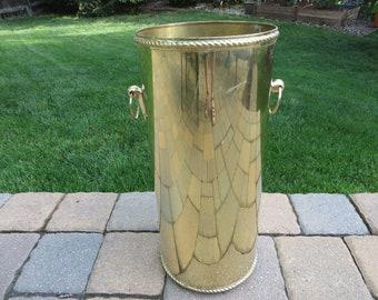 Vintage Brass Umbrella Stand -Brass Umbrella Stand Bucket