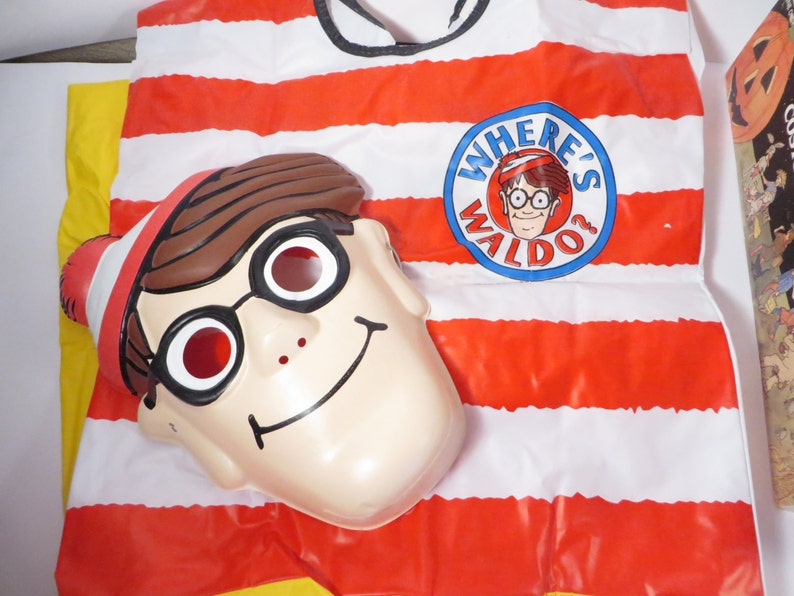 1991 Waldo Halloween Costume Vintage Collegeville Where/'s Waldo Halloween Costume
