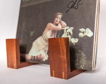 Hand-Crafted Wooden Record Holders