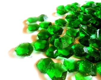 May Birthstone, Emerald, Edible Gems, Candy Gems, Birthday Cake Decorations, Hard Candy, Emerald Green 60