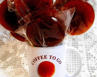 8 COFFEE FLAVOR LOLLIPOPS Coffee to Go, Bulk, Brewed, Organic Coffee, Lollipop, Coffee Shops, Boutiques, Delis, Restaurants
