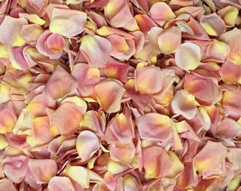 Scented or Unscented  WEDDING TOSS PETALS Rose Gold  Fresh Freeze Dried, Bio-degradable, Real Rose Petals, Wedding Color Match, Bulk Orders