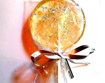 25 Gourmet Champagne, Liqueur, Cordial, Liquor, Alcohol Choice, Edible Sparkle Giant Lollipops, Wedding Party Favors, Wedding Favors