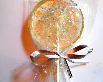 Cotton Candy Sparkle Lollipops Wedding Favors Party Pink Blue Sparkles Personalized Available