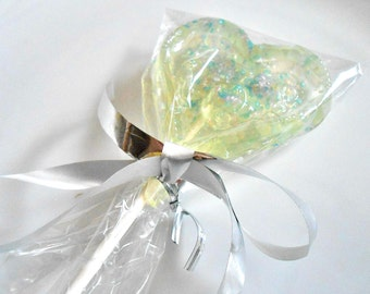 Wedding Hearts, Champagne Lollipops, Wedding Favors, Sweetheart Gift, Sparkles, Personalization