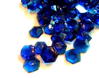 60 COBALT BLUE CANDY Gems Diamonds September Birthstones, Sapphires, Edible Birthstones, Candy Gems, Birthday Cake Decoration