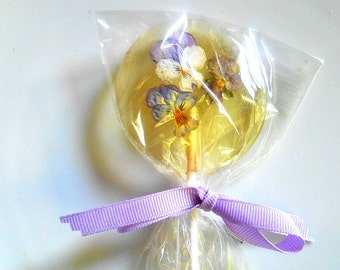 Gourmet Liquor Champagne Lollipops,18 Cordial Alcohol Choice Viola, Edible Giant Lollipops, Candied Real Flowers, Wedding Favors,Lollipops