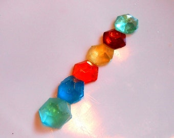 Multicolor PARTY Gems, Candy Gems, 6 Colors, Cake Decorations, Hard Candy, Cupcake Toppers