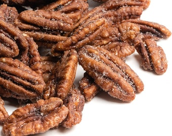 BOURBON CANDIED PECANS: Addictive Snacks 1/2 pound Gift Box=Ketoish