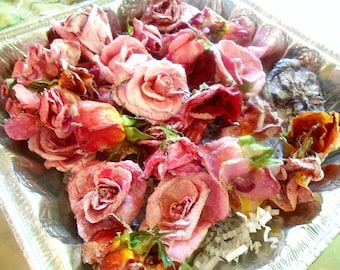 REAL CANDIED EDIBLE Roses, Pastel, Vegan Gluten Free , Cup Cake Roses. Cake Topper, Edible Flowers, Wedding  Party,Birthdays (12)