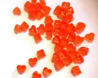 Little Candy Hearts, Cake Decorations, Cupcake Toppers, Hard Candy, Sugar gems, Any color