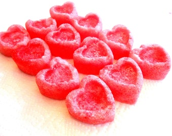 Sugar Cubes, Large Hearts, Flavored Colored Sugar, Tea Parties, Champagne Toasts, Tea, Coffee, Favors, Showers