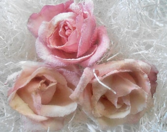 PASTEL CANDIED ROSES, Crystallized Roses, Organic Edible Flowers, Weddings, Anniversary, Cupcake Toppers, Cake Decorations, Naked Cakes