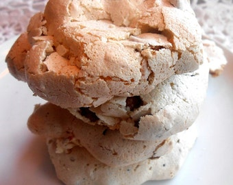 Meringue Chocolate Chip Cookies Gluten Free Light Crispy Chewy Delicious Snack