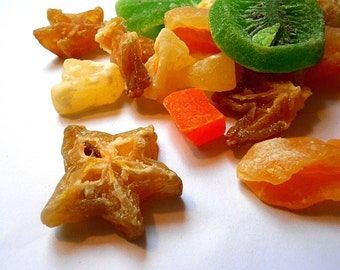 TROPICAL CANDIED FRUIT Mix Fruit Salad Candy 8 ounces