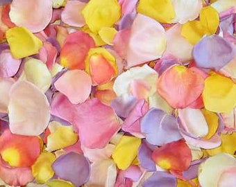 Scented CHILDRENS BIRTHDAY PARTY Pastel Petal Mix Fresh Freeze Dried, Bio-degradable, Real Rose Petals, Multi Colors,