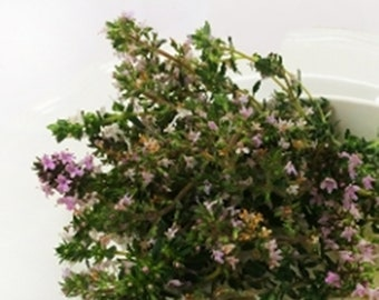 FRESH FLOWERING THYME Branches, Blue lavender Flower fragrant Branches  Edible Decorative 25 stems Restaurant Supply Herbs overnight