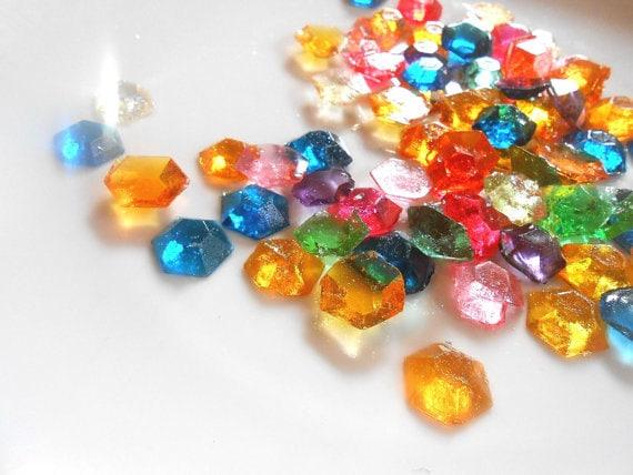 60 Legend Of ZELDA RUPEES Party Candy Gem Edible Gems