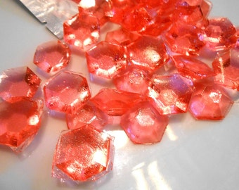 60 Candy Gem Cake Toppers, October Trend, Pink Tourmaline, Birthstone, Birthday Cake Decoration