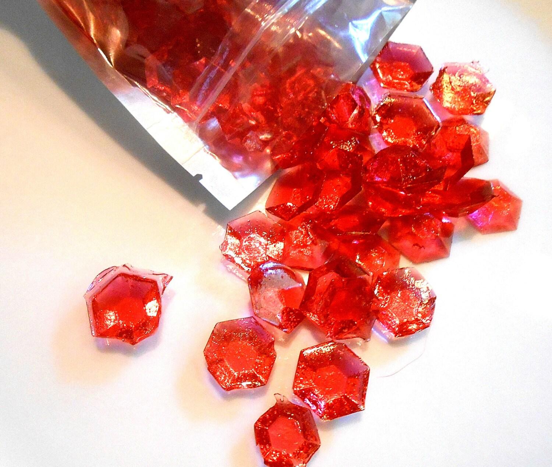 July Birthstones Rubies Edible Gems Candy Gems Birthday