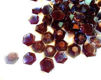120 Dk Purple  Edible Sugar Diamonds Jewels Gems Barley Sugar Hard Candy