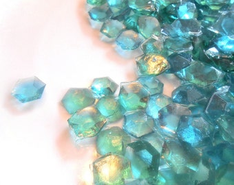 DECEMBER BIRTHSTONE GEMS, Zircon, Aqua Blue Ice, Candy Gems, Birthday Party, Cupcake Toppers, Cake Decorations