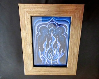 Small Framed Print - Behold the Violet Flame, Healing Art, by Tiffany Davis-Rustam