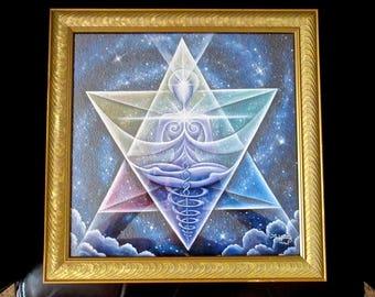 Large Framed Print - Galactic Starseed Goddess - Healing Art print, by Tiffany Davis-Rustam